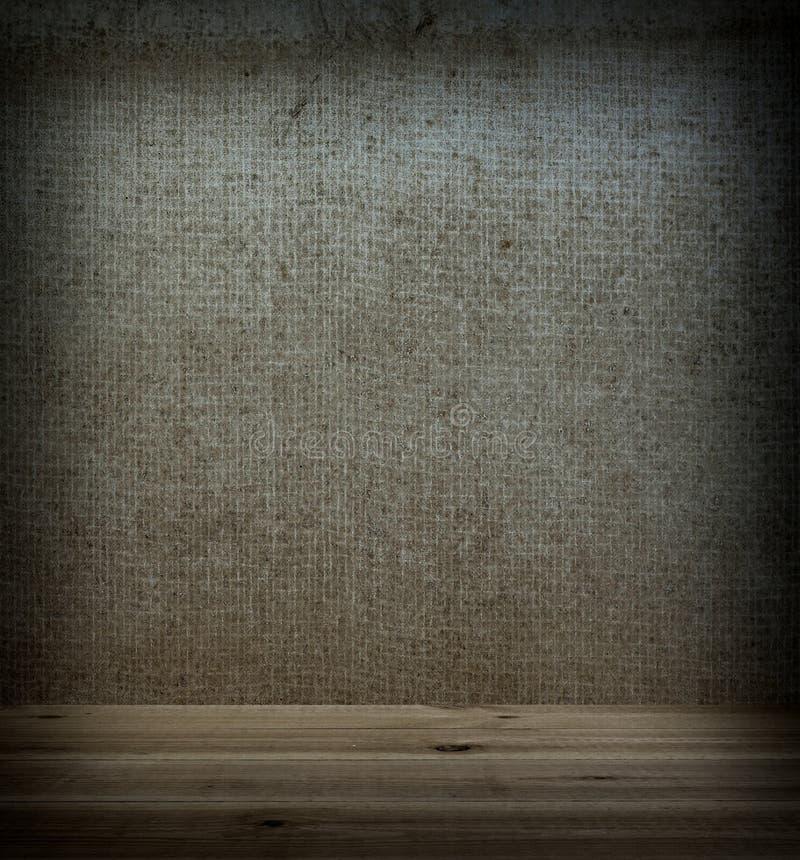 Tela de madera del piso y de la pared fotos de archivo libres de regalías