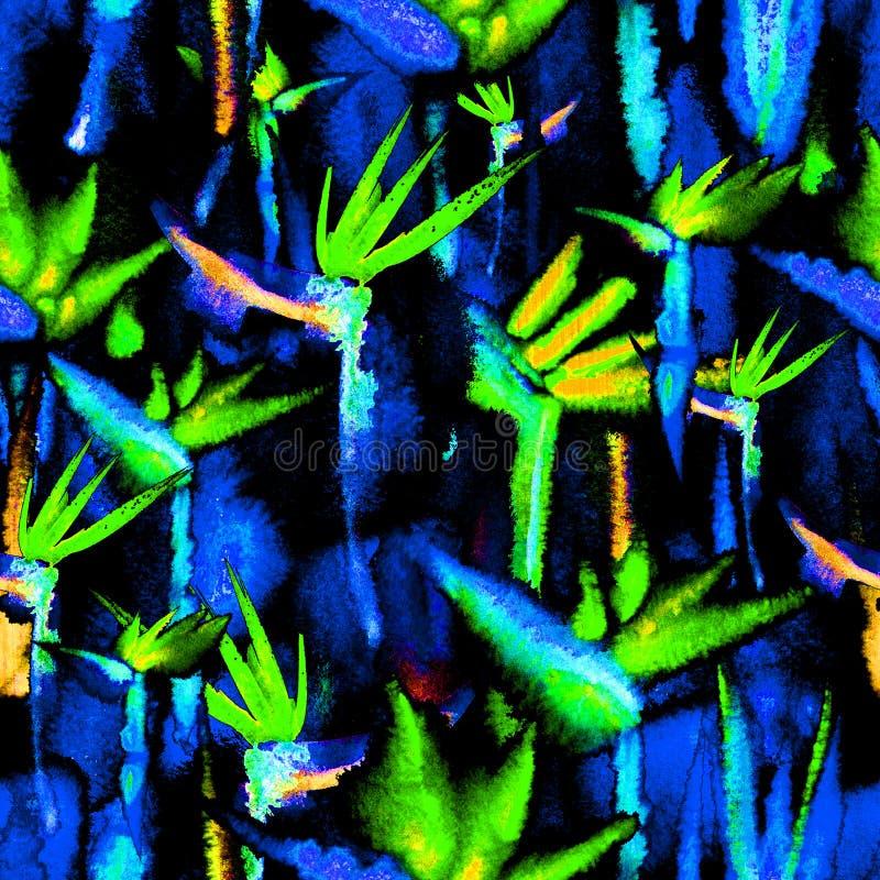 Tela de materia textil sin fin del teñido anudado de la impresión de sombra de oscuridad de la repetición del modelo inconsútil t libre illustration