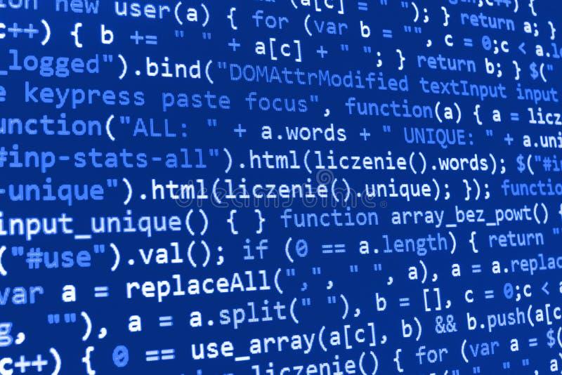 Tela de programação do código fonte da codificação fotos de stock royalty free