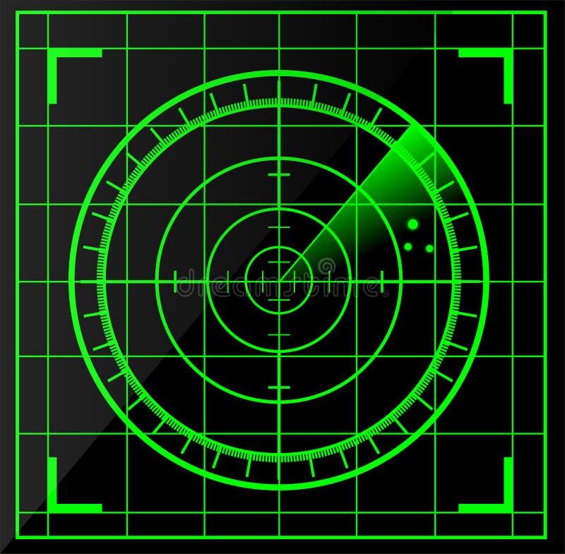 Tela de radar ilustração royalty free