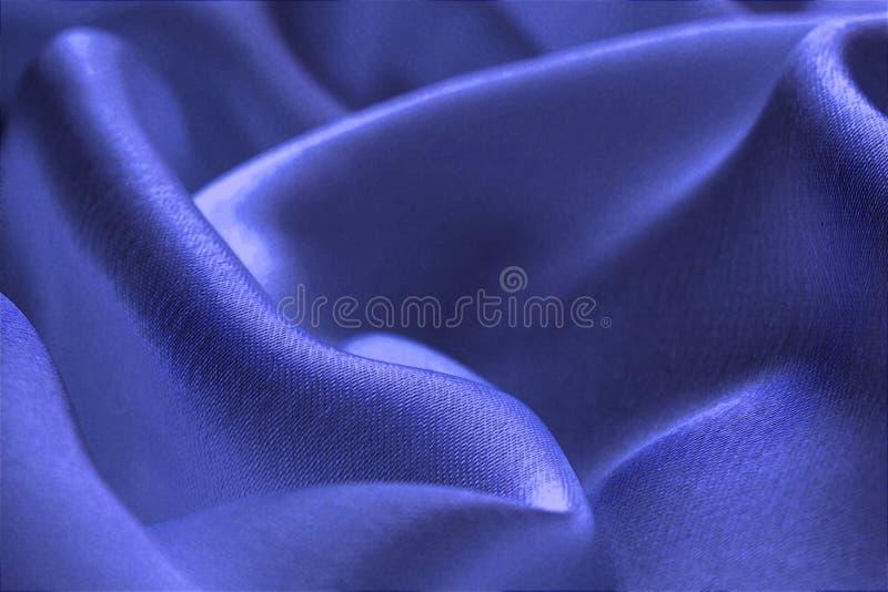 Tela de satén, brillante, jugoso, doblez, ondulado, azul imagen de archivo libre de regalías