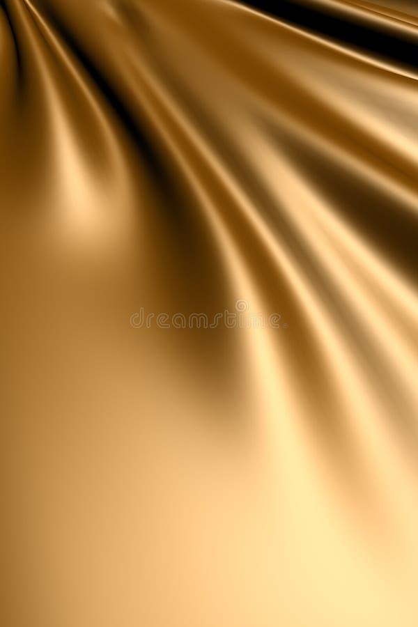 Tela de seda do ouro ilustração royalty free
