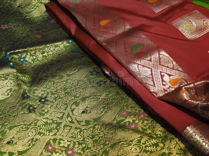 Tela de seda hermosa del brocado imagen de archivo libre de regalías