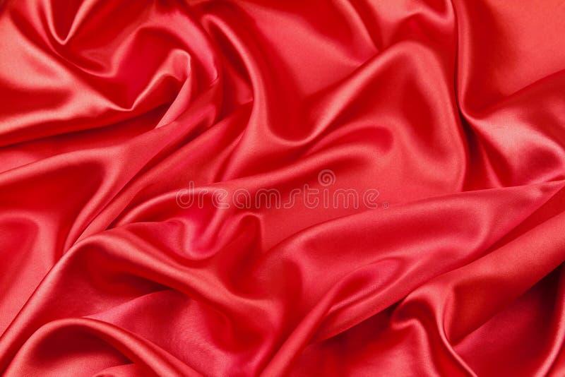 Tela de seda roja imagenes de archivo