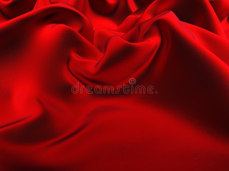 Tela de seda roja ilustración del vector