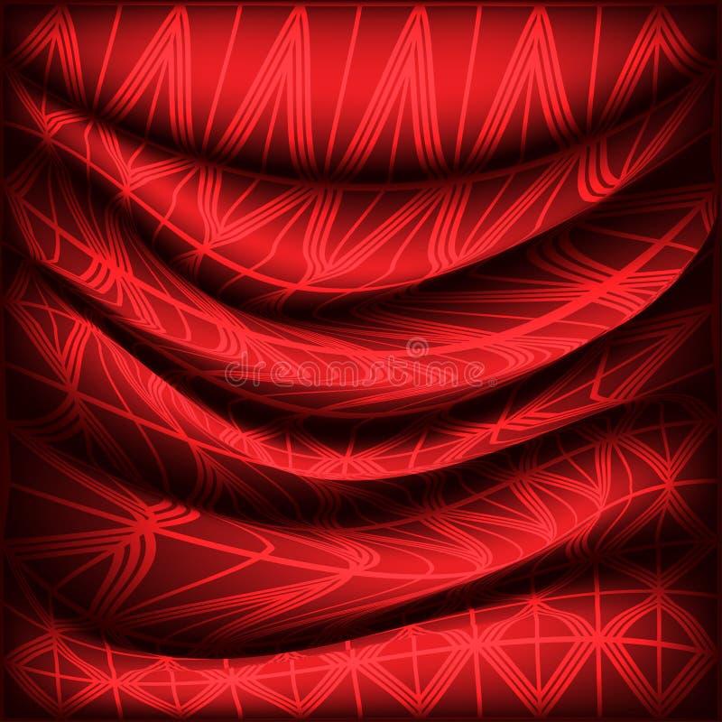 Tela de seda vermelha ilustração royalty free