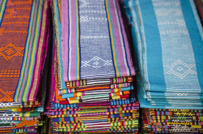 Tela de Tais em dili Timor Oriental, Timor Oriental foto de stock royalty free