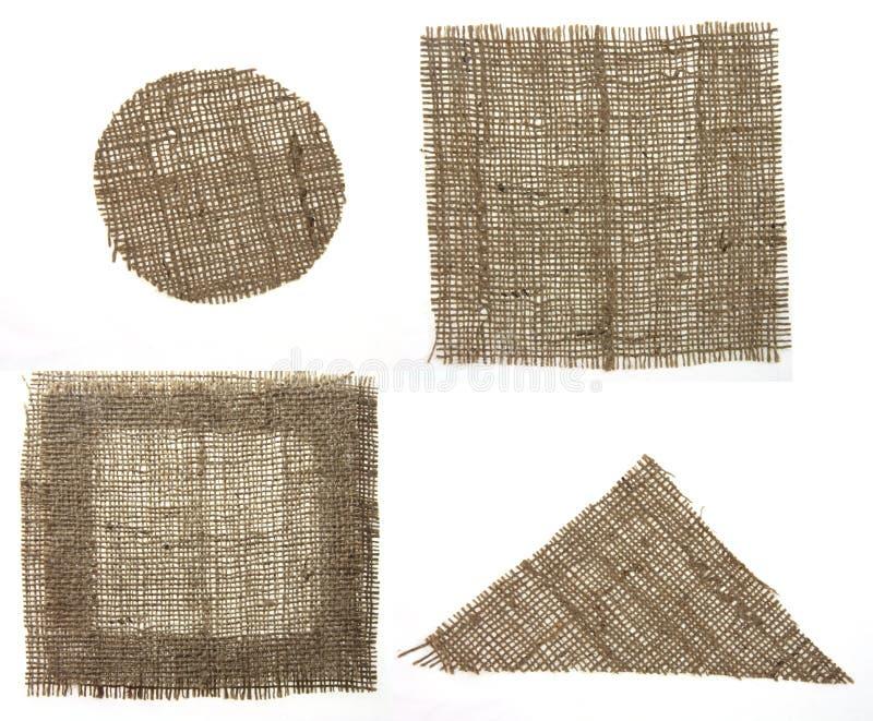 Tela della tela da imballaggio di quattro forme immagini stock libere da diritti
