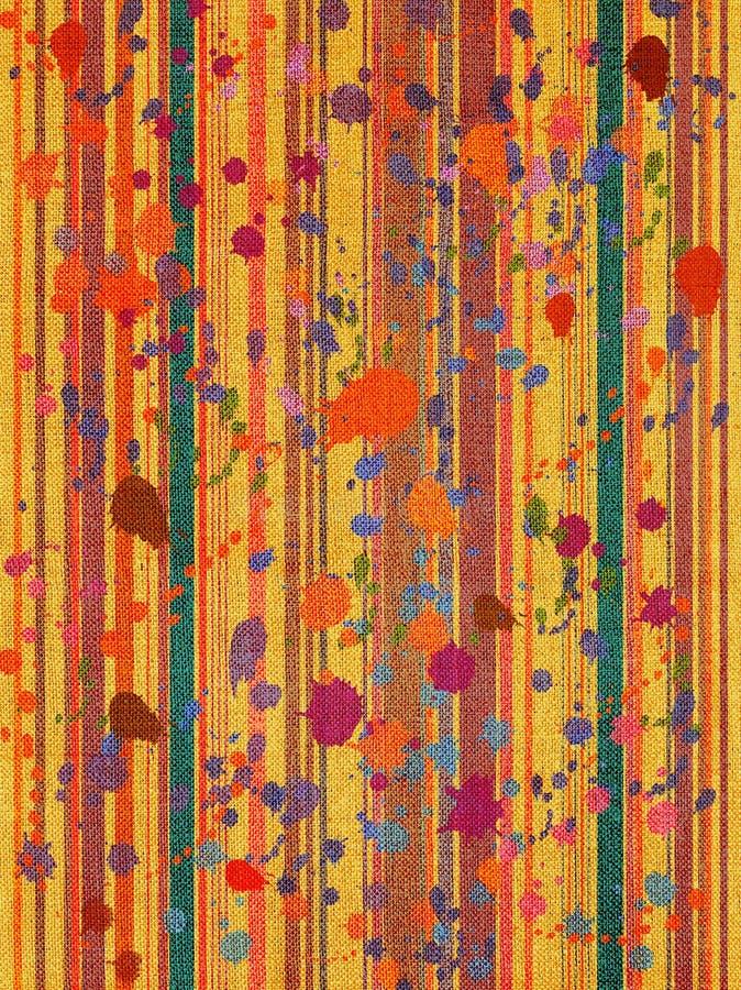 Tela di canapa a strisce di Print.colorful immagini stock libere da diritti