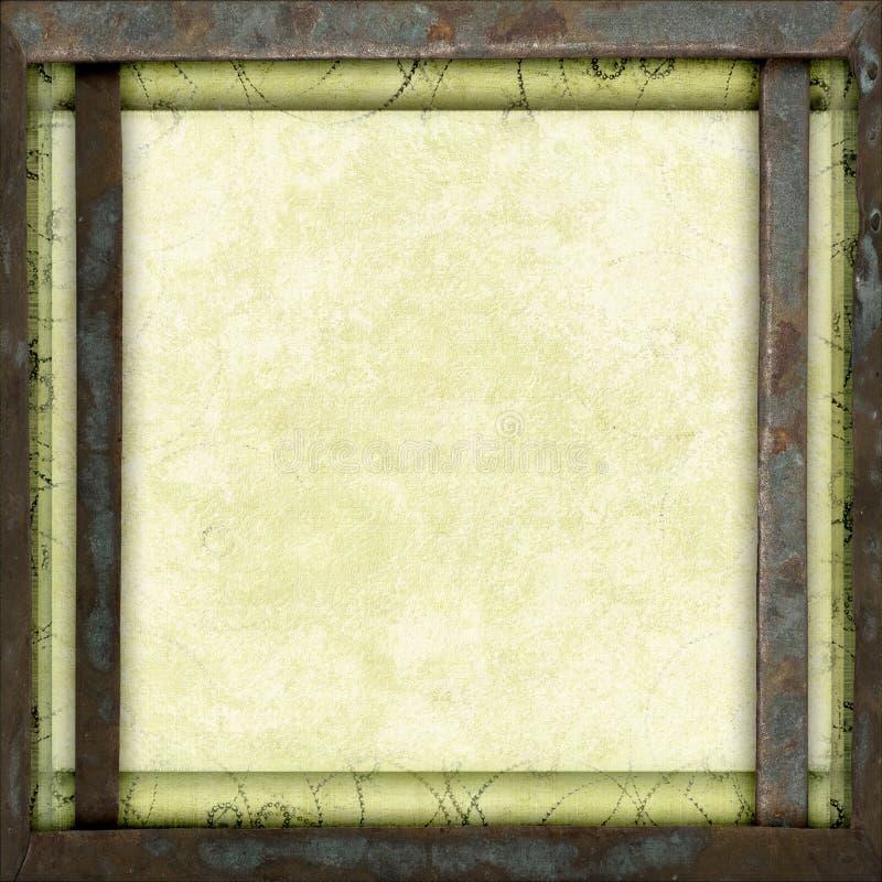 Tela di canapa vuota del blocco per grafici del metallo dell'annata fotografie stock libere da diritti