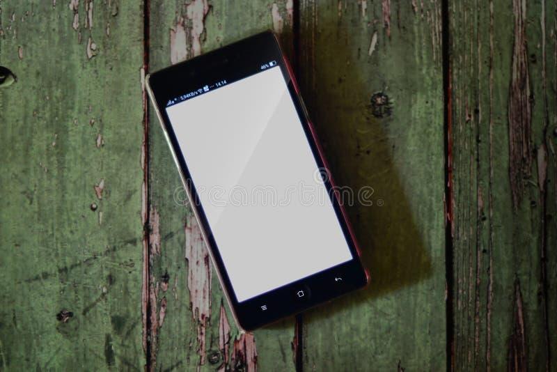 Tela do branco de Smartphone fotos de stock