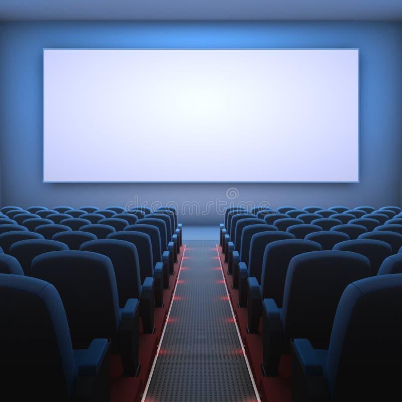 Tela do cinema ilustração stock