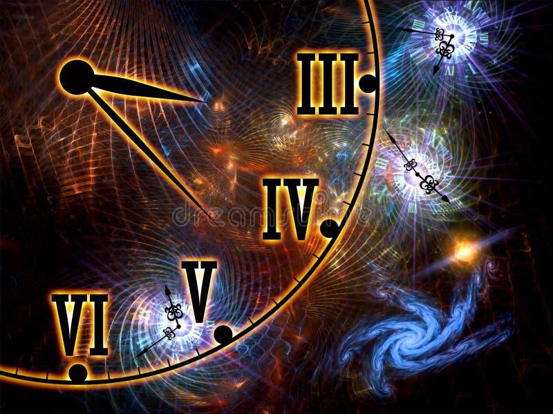 Tela do espaço e do tempo ilustração stock
