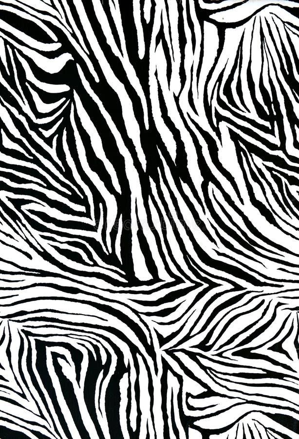 Tela do estilo da zebra ilustração do vetor