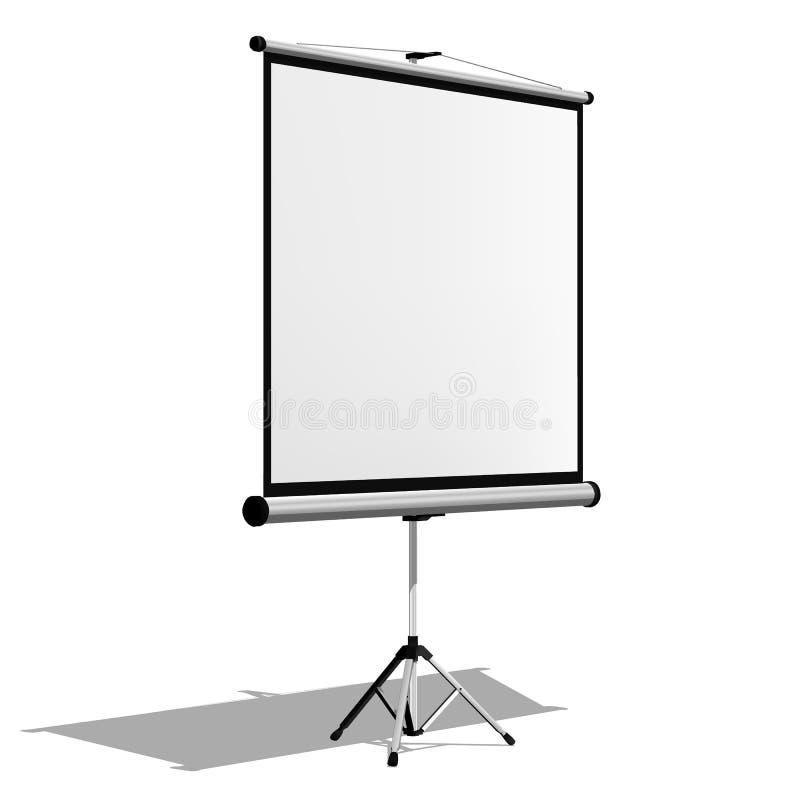 Tela do projetor Isolado no fundo branco ilustração do vetor