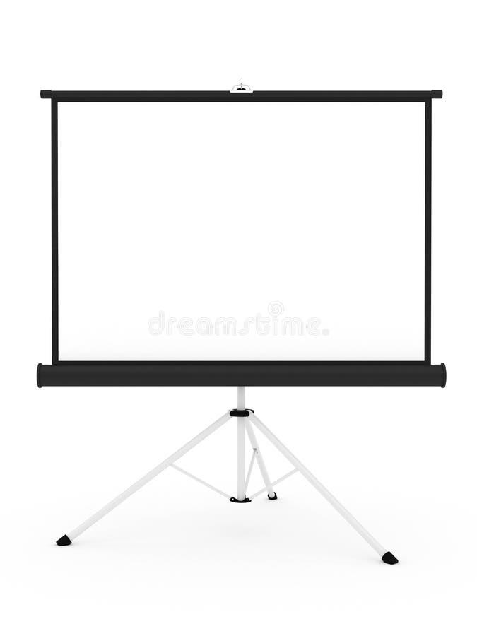 Tela do projetor no tripé ilustração royalty free
