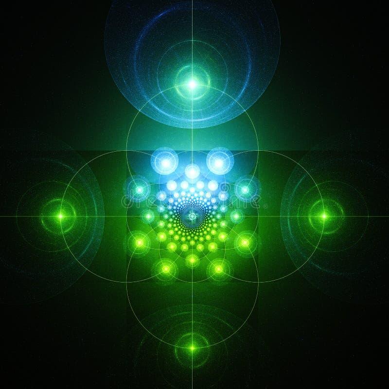 Tela do radar Fulgor misterioso ilustração royalty free