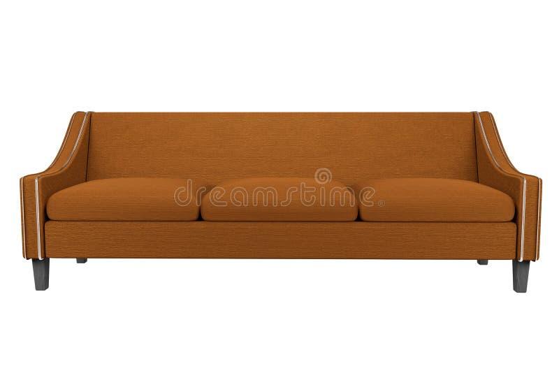 Tela do sofá e da cadeira de Brown de couro no fundo branco para o uso nos gráficos, foto que edita, sofás, várias cores, ver ilustração do vetor