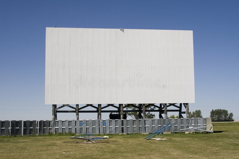 Tela do teatro do cinema a o ar livre imagens de stock royalty free