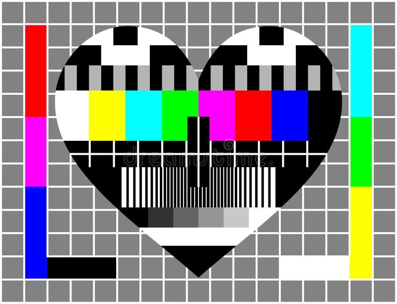 Tela do teste do amor ilustração royalty free