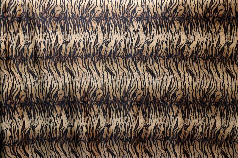 Tela do teste padrão do tigre do close up, em alaranjado marrom e de creme pretos fotografia de stock