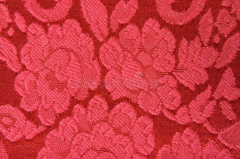 Tela do vermelho de Upholstery imagens de stock royalty free
