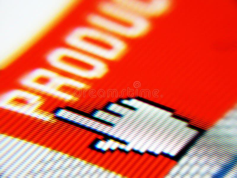 Tela dos produtos fotografia de stock royalty free