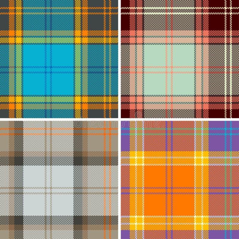 Tela escocesa stock de ilustración