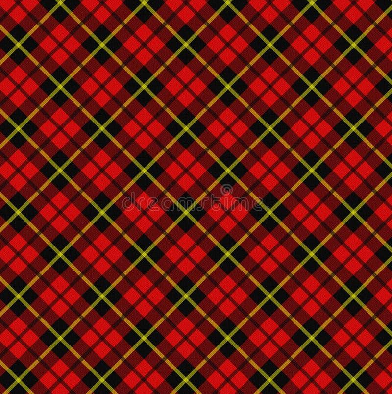Tela escocesa ilustración del vector