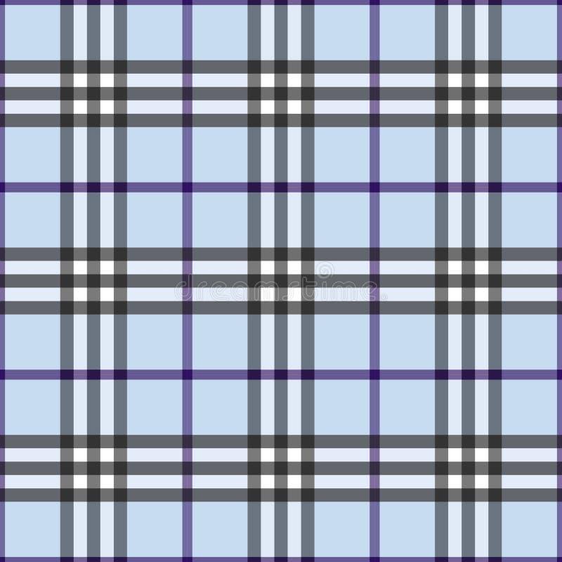 Tela escocesa azul stock de ilustración