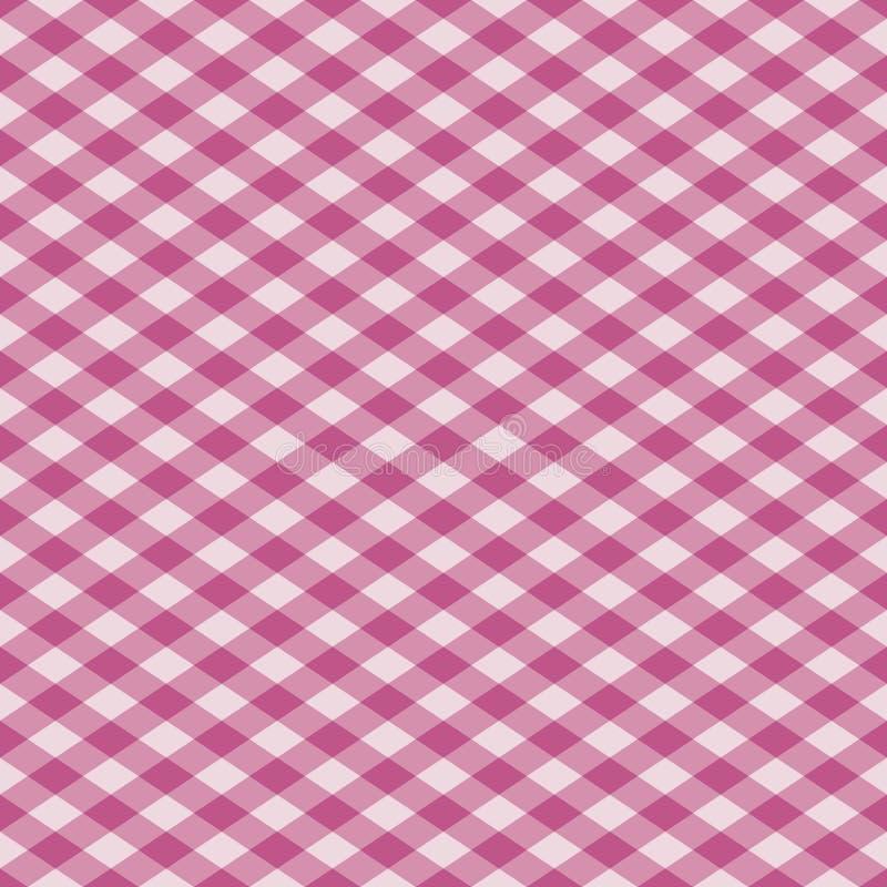 Tela escocesa de la guinga en color de rosa ilustración del vector
