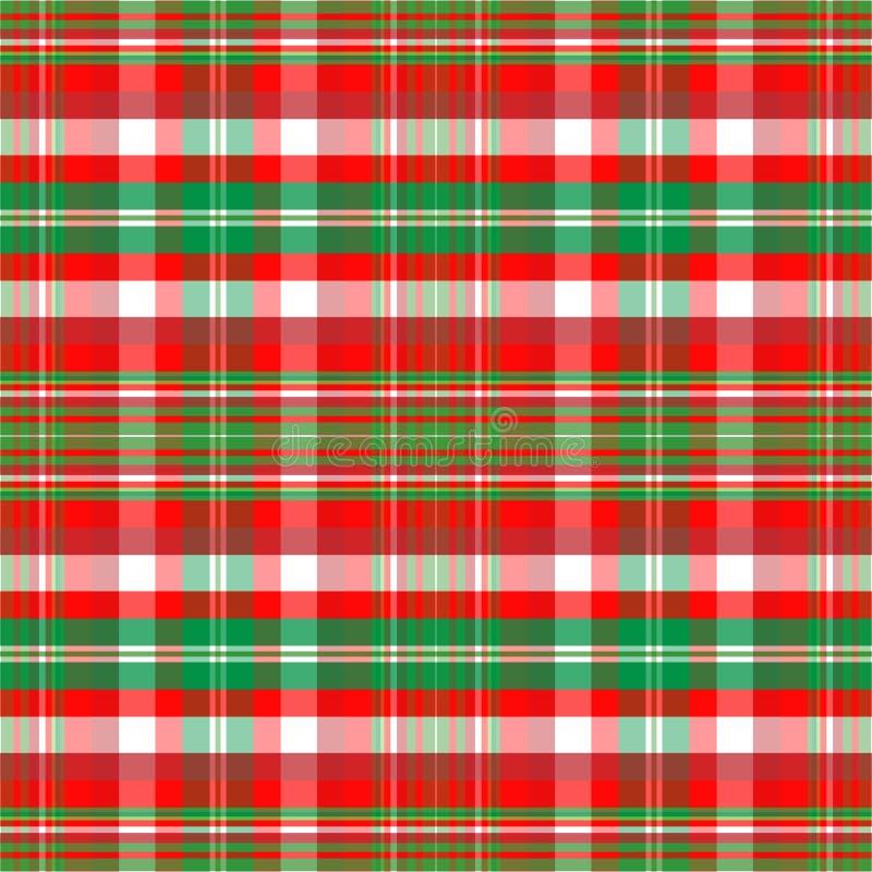 Tela escocesa de la Navidad ilustración del vector