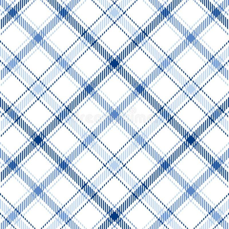 Tela escocesa de las rayas azules stock de ilustración