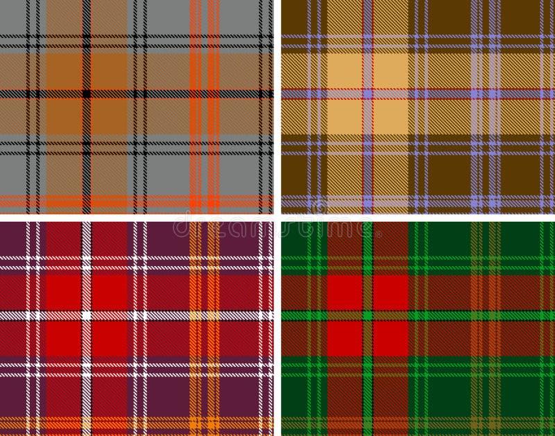 Tela escocesa de tartán Textured de los seamles ilustración del vector