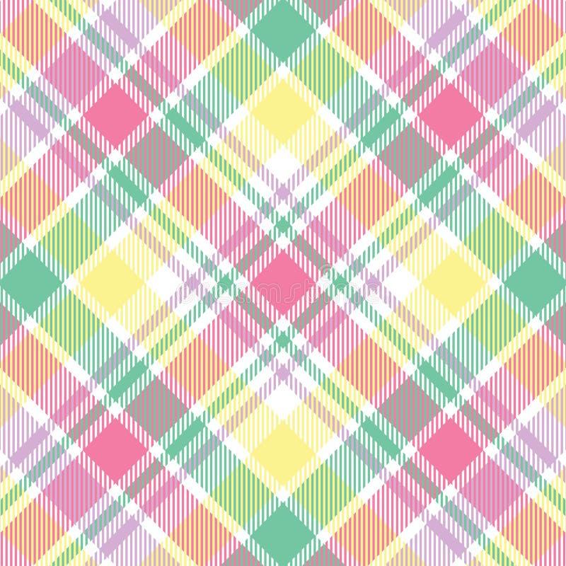 Tela escocesa en colores pastel ilustración del vector