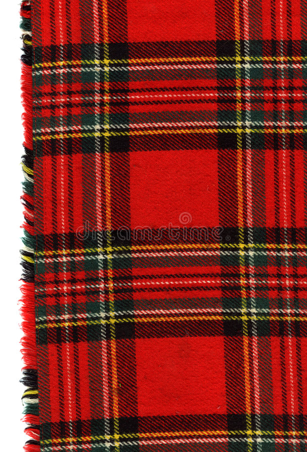 Tela escocesa escocesa roja imagenes de archivo