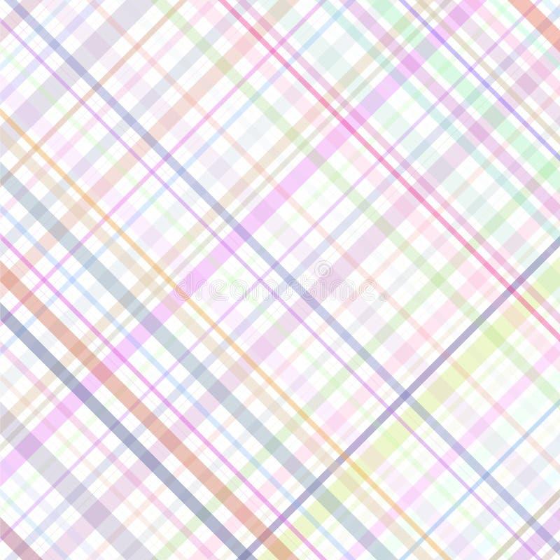 Tela escocesa multicolora en colores pastel de las rayas ilustración del vector