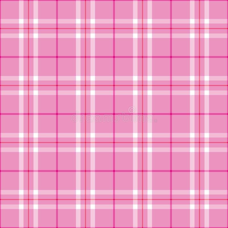 Tela escocesa rosa clara ilustración del vector