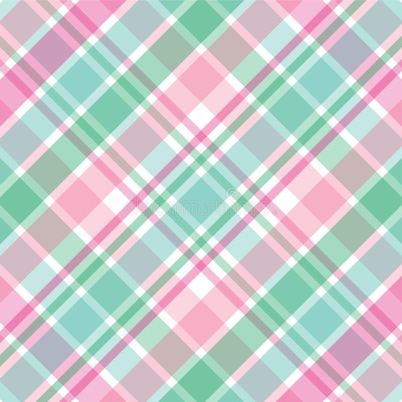 Tela escocesa rosada y verde libre illustration