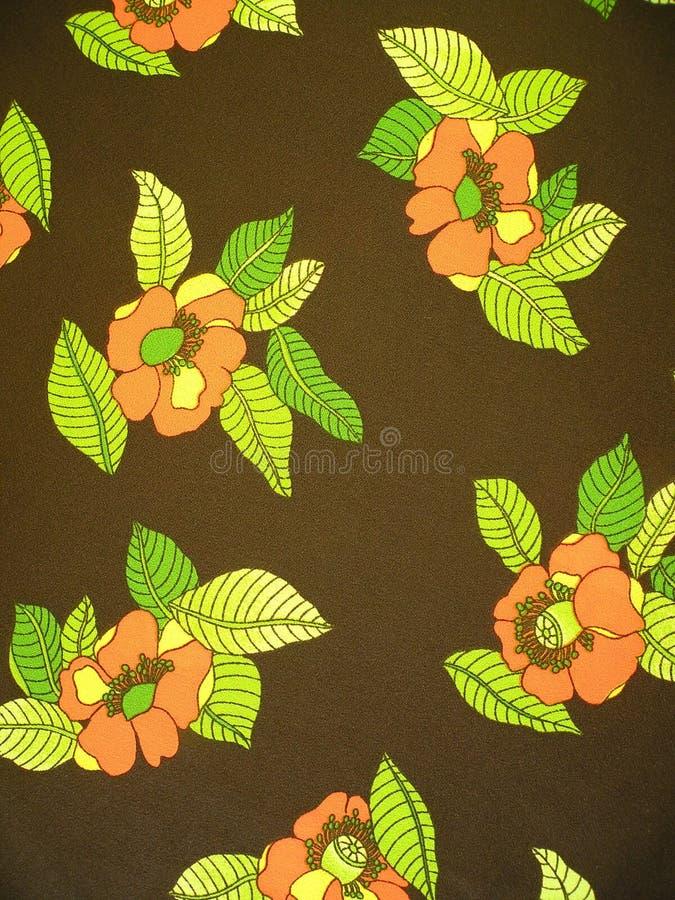 Tela floral de Brown imagen de archivo libre de regalías