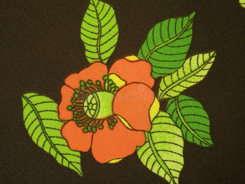 Tela floral de Brown imágenes de archivo libres de regalías