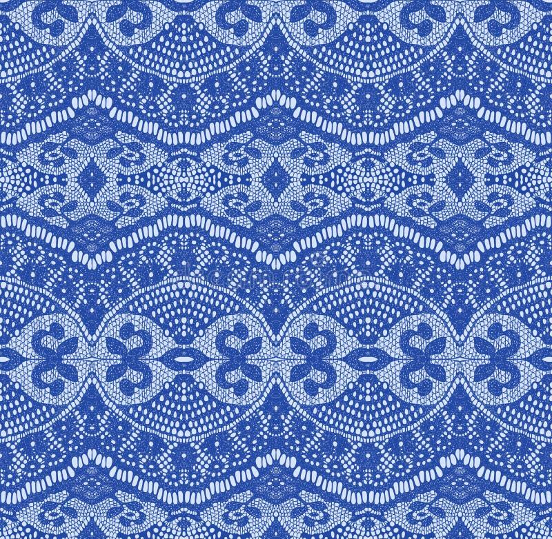 Tela inconsútil azul del cordón stock de ilustración