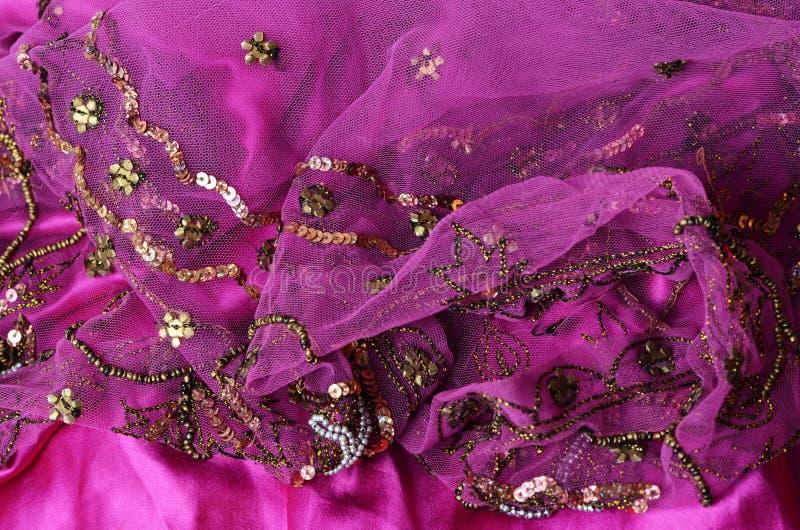 Tela india rosada foto de archivo libre de regalías