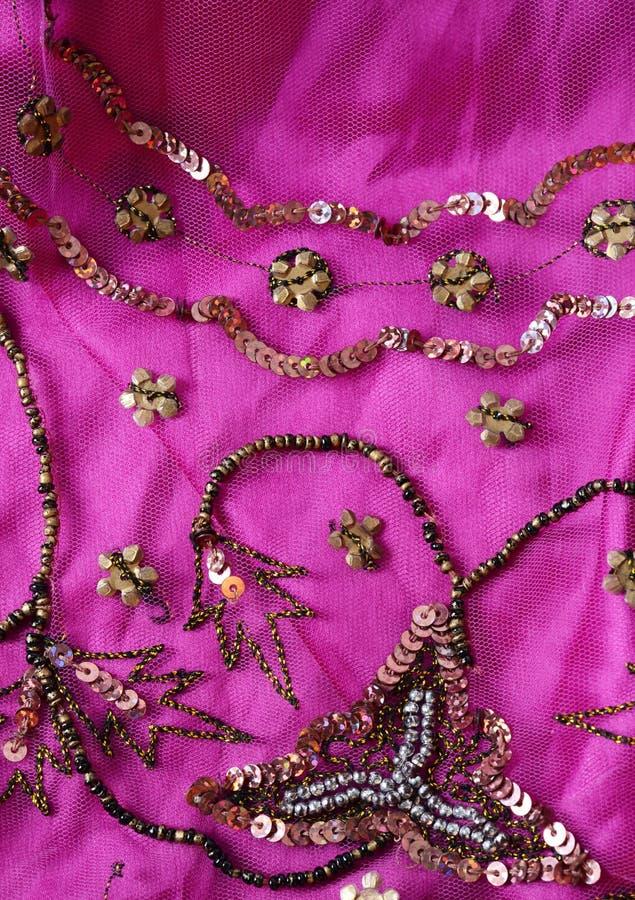 Tela india rosada fotografía de archivo