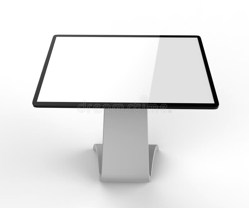 Tela interativa de Hd do Signage de Digitas do quiosque da visualização ótica de tela táctil do LCD, produto do quiosque da expos ilustração royalty free