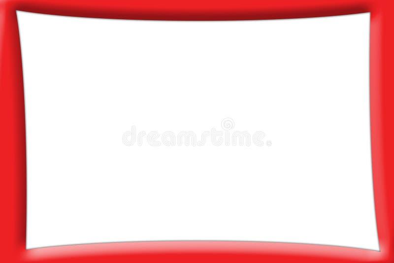 Tela PhotoFrame da tevê - versão vermelha ilustração do vetor