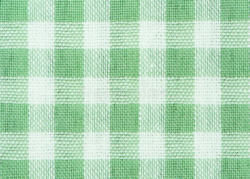 Tela quadriculado clássica verde imagem de stock