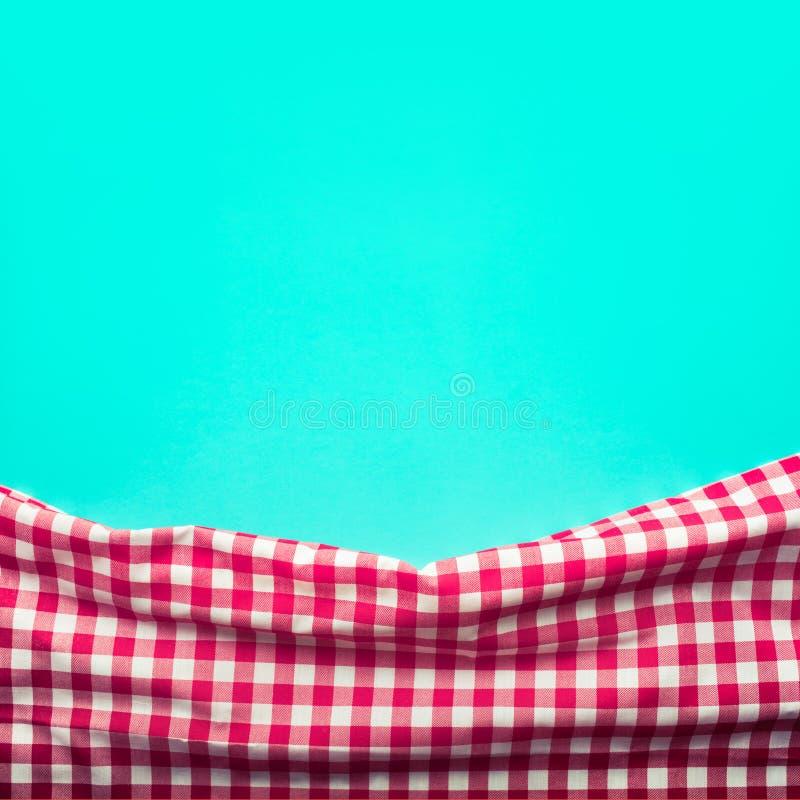 Tela quadriculado vermelha sem emenda com fundo verde foto de stock