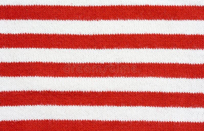 Tela rayada roja y blanca imágenes de archivo libres de regalías