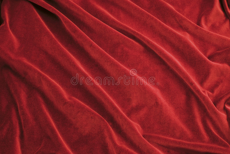 Tela roja del terciopelo fotos de archivo
